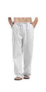 Men's Solid Colors Linen Pants