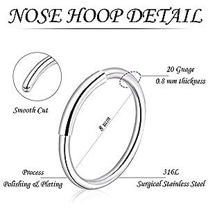 nose rings hoops for men women