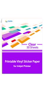Transparent Printable Vinyl Sticker Paper