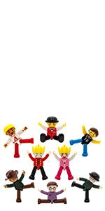 Magnetic action figures