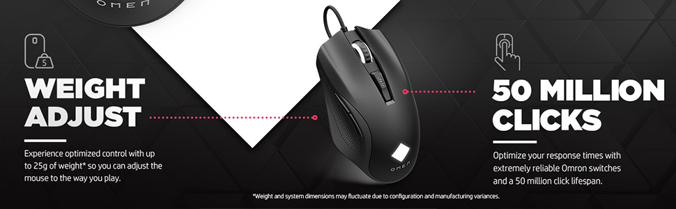 HP OMEN Vector 8BC53AA RGB Wired Optical Gaming Mouse