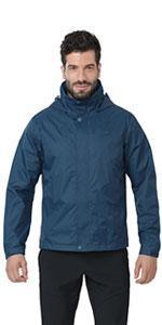 men's waterproof rain jacket hooded rain coat outdoor windbreaker lightweight rainwear for hiking