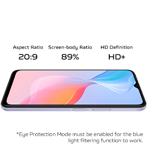 HD+ Screen with Eye Protection