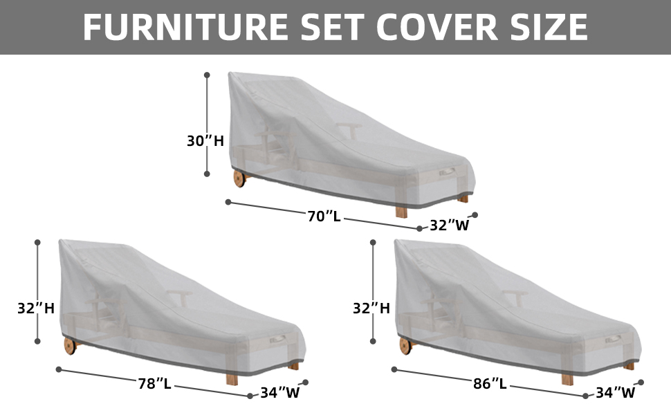 Patio Lounge Chair Cover size option