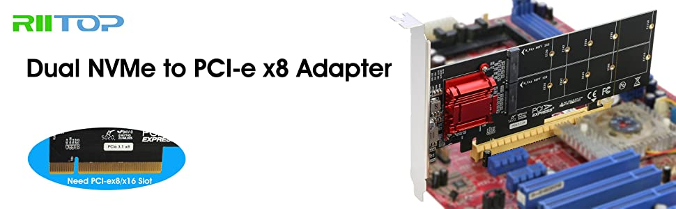 dual nvme pcie adapter