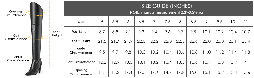 DREAM PAIRS Women's Thigh High Boots Over The Knee Heels Long Sexy Pointed Toe Boots…