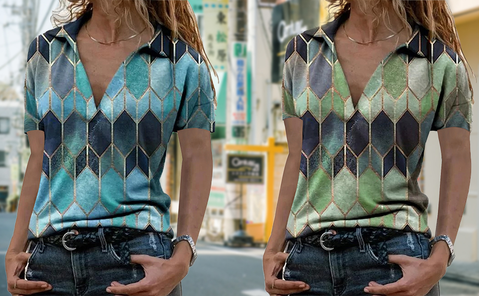 Womens Fashion Casual Blouse Collar neck Tops