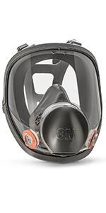 3M Full Facepiece Reusable Respirator 6800, Paint Vapors, Dust, Mold, Chemicals