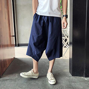 mens linen yoga pants loose summer pants for men thai fisherman pants men linen