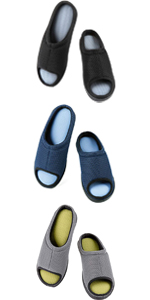 ZIZOR Men's Moccasin Slippers with Memory Foam, Slip On House Shoes