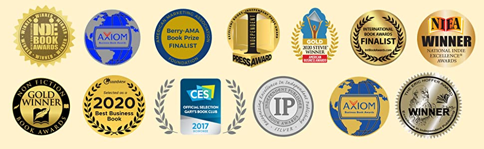 Awards from 13 organizations and best-of lists.