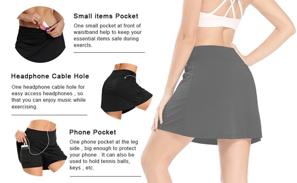 Women Modest Running Skirt