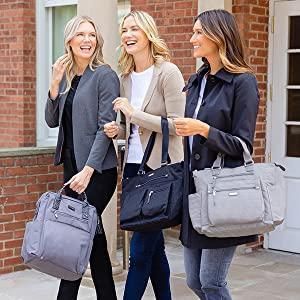 Women enjoying their baggallini bags