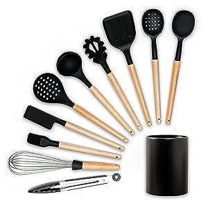 full utensils set with holder