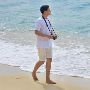 Boisouey Men Linen Casual Classic Fit Short Summer Beach Shorts