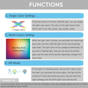 more functions of the mini usb led lights