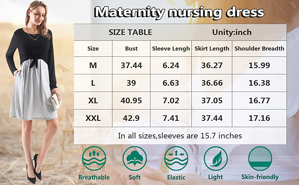 fall maternity dress