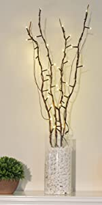 Lighted Natural Willow Twig Branches