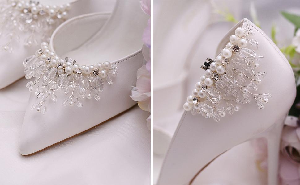 Wedding shoe clips