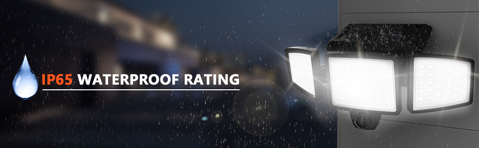 solar security lights outdoor waterproof