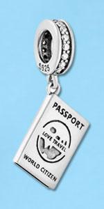 Passport charm for pandora