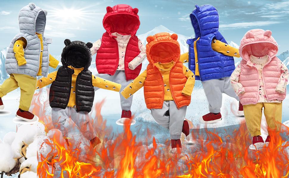 Children's Hooded Puffer Vest