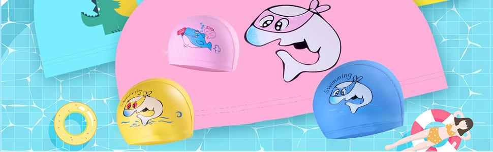 Cute Kids Swim Caps