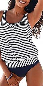 Plus Size Swimwear Tummy Control Two Piece
