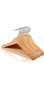 wooden baby hangers