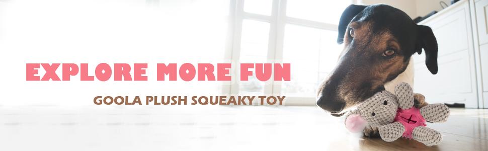 funny dog plush toy