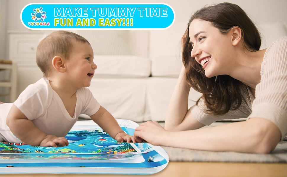 Tummy Time Water Mat ,Baby Toys for 3, 6, 9, 12, 24 Months Old Infants Girls Boys