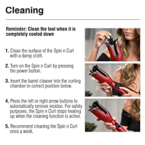 Spin N Curl, Hair, Wand, Curling, Iron