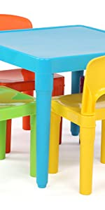 kids plastic table and chair set children furniture playroom easy snap together assembly