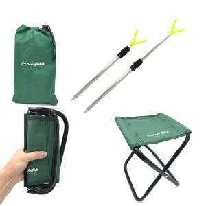 collapsible fishing chair and rod holder