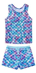 Girls Two Piece Tankini Swimsuits