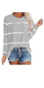 Color Block Sweatshirts for Ladies
