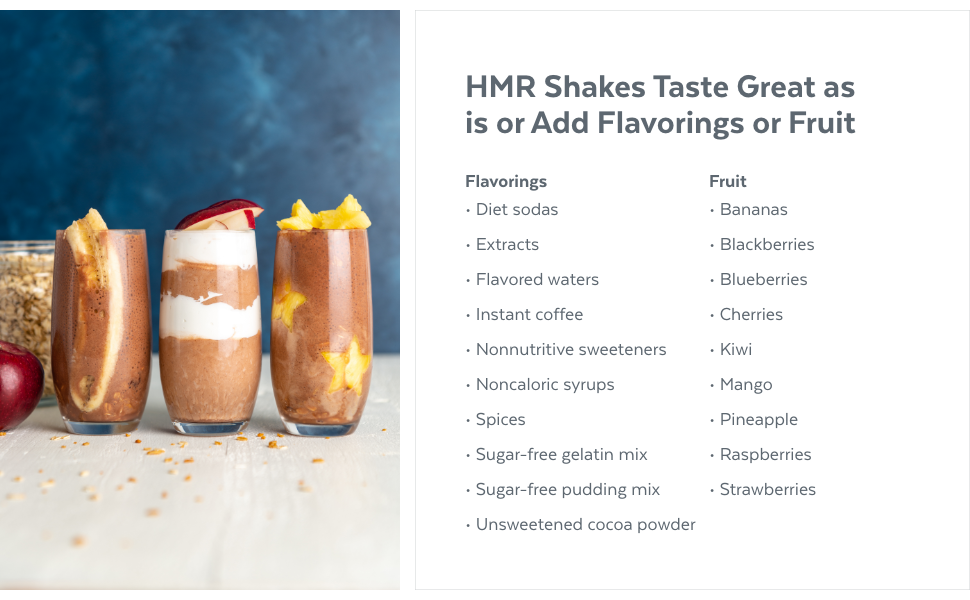 HMR Chocolate Shake Variety
