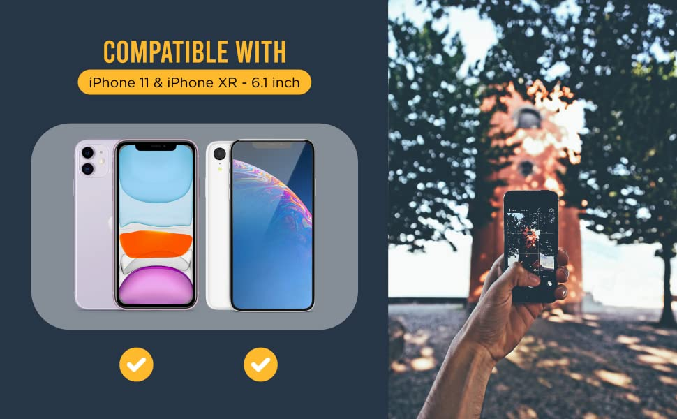 LaPiksel Tempered Glass cell phone screen protectors compatible with iphone 11 and iphone XR
