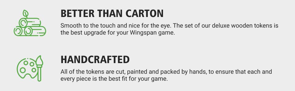 TowerRex Wingspan Food Resource Tokens Set Aviary Food Tokens Wingspan Board Game Upgrade Kit