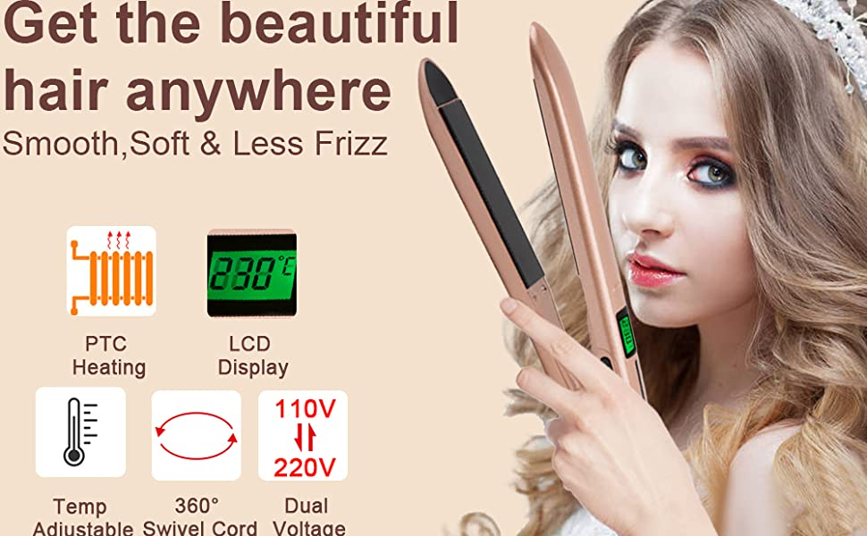 hair iron straightener gold flat iron for hair herstyler flat iron curler dual flat iron curler