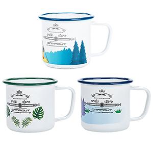 enamel camping mugs 3pcs