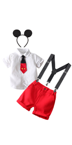 Mouse themed birthday party supplies 1st 2ns 3rd 4th 5th 6th birthday outfits boys