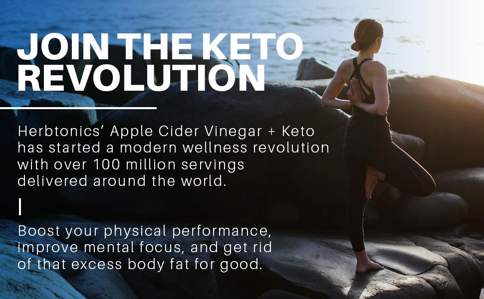 Join the Keto revolution with Herbtonics Apple Cider Vinegar + Keto.
