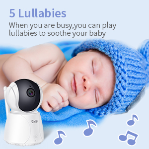 baby monitor with lullabies temperature alarm
