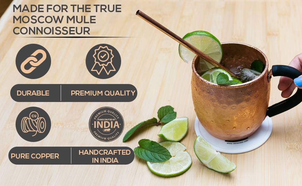 moscow mule cups set real copper cups  bartender kit cocktail glasses bar accessories beer stein
