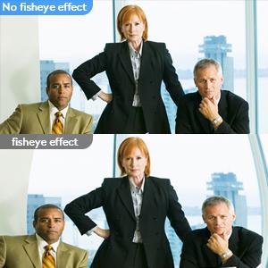 no fisheye effect