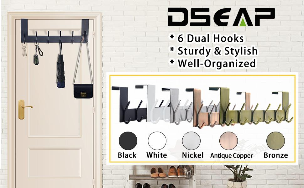 Dseap Sturdy Stainless Steel Over the Door Hook