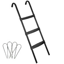 Ladder with stakes