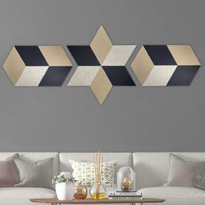 decorative Acoustic panels in rhombus shape