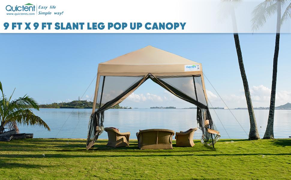 pop up canopy slant leg